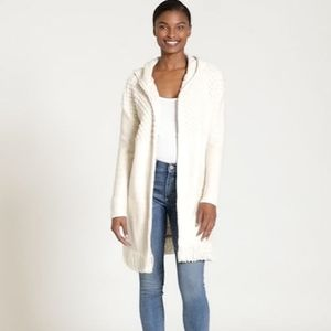 NWT Gap Longline Fringe Hooded Cardigan Sweater